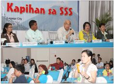 """Kapihan sa SSS"""" in Legazpi City  The Social Security System (SSS) held its first """"Kapihan sa SSS"""" for 2014 before members of the local Bicol media (lower photo) at the Oriental Hotel in Legazpi City, Albay last March 11 as part of the agency's continuing campaign to reach out to members all over the country."""
