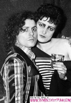 Marc Bolan with Siouxsie Sioux (from Siouxsie and the Banshees).