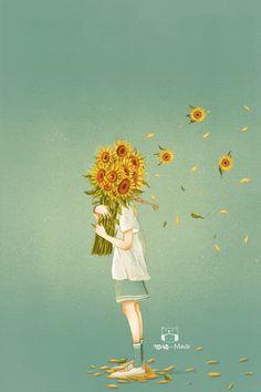 Flying in the wind Aesthetic Art, Aesthetic Anime, Japon Illustration, Arte Sketchbook, Anime Scenery Wallpaper, Beautiful Gif, Animation, Cute Gif, Anime Art Girl
