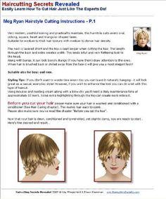 meg ryan hairstyle instructions p - Hair Styles