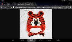 Ενα πλεκτό σκουφάκι τίγρης