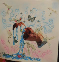 Collage acompañados de mariposas
