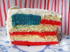 American Flag Cake - Foodista.com
