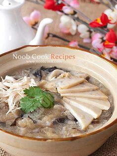 Fish Maw Soup with Abalone Recipe 鱼漂鲍鱼汤 | Noob Cook Recipes