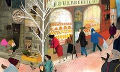 One of the 'exhuberant, grown-up' illustrations from The Marvellous Fluffy Squishy Itty Bitty by Beatrice Alemagna