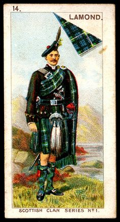 """Mitchell's Cigarettes """"Scottish Clan Series"""" (set of 25 issued in 1903) #14 Clan Lamond"""