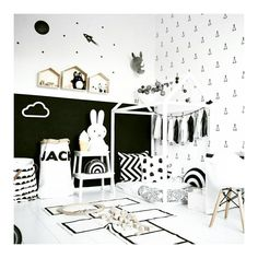 Kidsroom Inspo - just one more gorgeous use of a dark wall by @tessandjack_ Definitely have to fit it into our nephew's room makeover somehow! #clouddeninspo