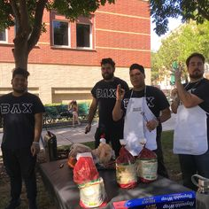 The gentlemen of Beta Lambda Chi at their Betasada event where they give out free tacos to the campus!