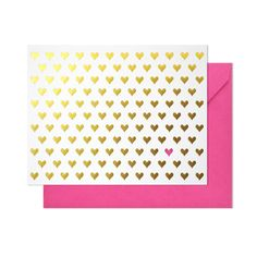 Gold Hearts Note Set