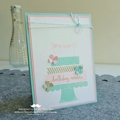 Using Stampin' Up's Build a Birthday for a Pretty, Pink Card.