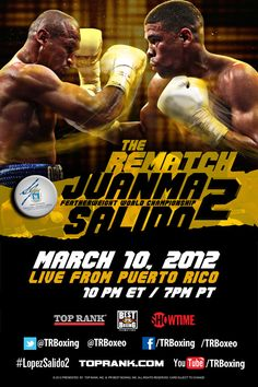 Repeat or Revenge? López vs Salido 2, March 10 in San Juan, P.R. Catch it LIVE on Showtime.