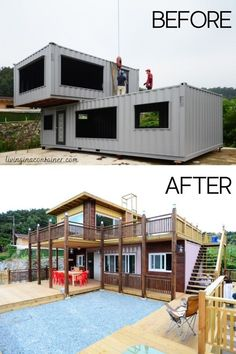 Sea Container Homes, Container House Design, Modern Tiny House, Tiny House Cabin, Shipping Container Home Designs, Shipping Containers, Usa Living, Casas Containers, Container Buildings