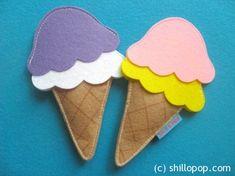 Felt Ice Cream Scoop Sets Tutorial Free PDF Pattern