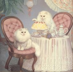Elisabeth, if we were cats this is what we would look like!