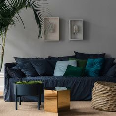 Nice corner of living. We love the sofa with dark colour it gives a warm feeling.  #interior #furniture #living #sofa