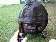 Death Star fire pit!  Freaking awesome!