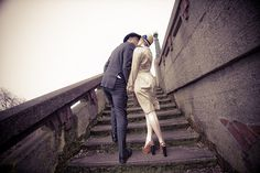 Love the kiss pose on stairs
