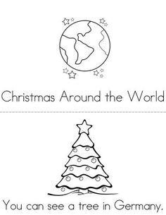 Christmas Around the World Mini Book from TwistyNoodle.com