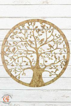 Lebensbaum Baum des Lebens aus Holz Korkdesign Graviert  Laser Cut  Wanddeko Holzdekor  Wandbild Dekoration Deko Geschenk zum Geburtstag Hochzeit  Muttertag Weihnachten