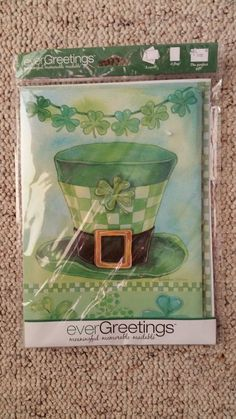 EverGreetings Card and Mini Garden Flag St Patrick's Day NEW !!!! #Evergreen
