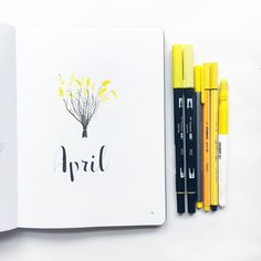 "386 Likes, 18 Comments - [ Amalie ] (@northernplanner) on Instagram: ""Lets take all the yellows out This spread is so Easter to me • • • • • #bujo #bulletjournal…"""