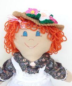 cloth rag doll handmade ragdoll ooak cloth doll by KnotAPaperdoll, $49.75                                                 there