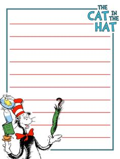 Journal Card - IOA - The Cat In The Hat - Lines - 3x4 Photo by pixiesprite | Photobucket