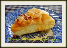 Cheesecake with Caramel Apple Topping / Walking on Sunshine Recipes