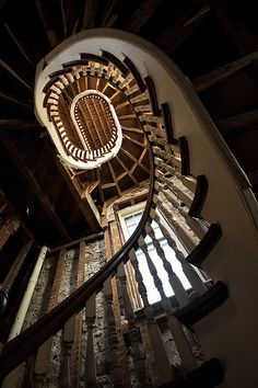 stairs, abandoned church in New York