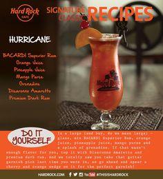 BACARDI Superior Rum Orange Juice Pineapple Juice Mango Puree Grenadine Disaranno Amaretto Premium Dark Rum #ThisisHardRock #RocktailClub