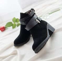 Leather Ankle Boots Heels High Heel Shoes Woman Red Bottom