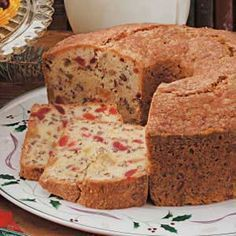 Cherry Pineapple Fruitcake Recipe -This is the finishing touch to our Christmas dinner. My family always claimed they didn't like fruitcake, but they love this one! For the best flavor, let it sit overnight before slicing.