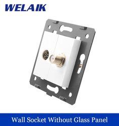 $5.68 (Buy here: https://alitems.com/g/1e8d114494ebda23ff8b16525dc3e8/?i=5&ulp=https%3A%2F%2Fwww.aliexpress.com%2Fitem%2FWELAIK-EU-Standard-TV-Satellite-Socket-DIY-Parts-White-Wall-TV-Satellite-Socket-parts-Without-Glass%2F32774878755.html ) WELAIK EU Standard TV Satellite Socket  DIY Parts  White Wall TV Satellite  Socket parts Without Glass Panel A8TVSA for just $5.68