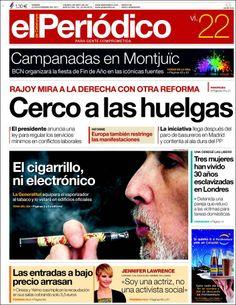 Los Titulares y Portadas de Noticias Destacadas Españolas del 22 de Noviembre de 2013 del Diario El Periódico ¿Que le pareció esta Portada de este Diario Español?