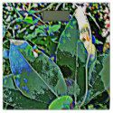 GREEN FLORAL ABSTRACT BATH SCALE