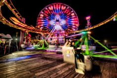 Bright lights, fun rides make for a night well spent at Santa Monica's Pacific Park! Hotel California, Park Photography, Bright Lights, Where The Heart Is, Santa Monica, Eye Candy, Beautiful Pictures, Scenery, Fair Grounds