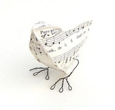 paper bird - I make these all the time for gifts in various patterns and colors..