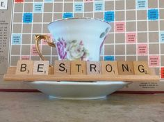 Hey, I found this really awesome Etsy listing at https://www.etsy.com/listing/177611809/be-strong-scrabble-tile-sign-or