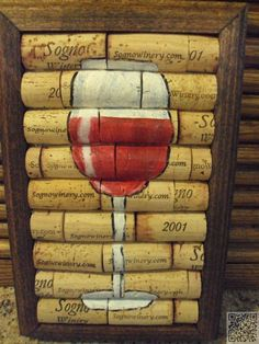 4. Cork Art - 39 Cork #Crafts That Will Make You Wish You Drank More Wine ... → DIY #Easiest