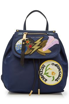 Marc Jacobs - Fabric Backpack with Patches   STYLEBOP