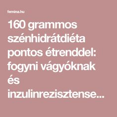 160 grammos szénhidrátdiéta pontos étrenddel: fogyni vágyóknak és inzulinrezisztenseknek - Fogyókúra | Femina Diabetic Recipes, Diet Recipes, Weight Loss Meal Plan, Meal Planning, Paleo, Food And Drink, Health Fitness, Meals, How To Plan