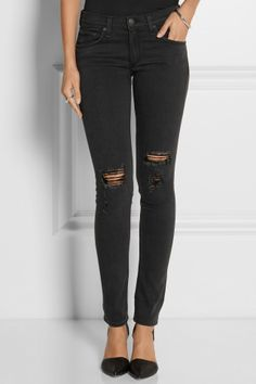 Rag & bone|The Skinny distressed mid-rise jeans|NET-A-PORTER.COM, How would you style these? http://keep.com/rag-and-bone-the-skinny-distressed-mid-rise-jeans-net-a-portercom-by-cocomist/k/1sMKkggBJJ/