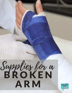 Broken bones are no fun, but having the right broken arm supplies to help you out will make recovery easier, if not painless. Broken Arm Cast, Broken Wrist, Health And Fitness Articles, Fitness Tips, Health Fitness, Health And Beauty Tips, Health Tips, Women's Health, Survival Supplies