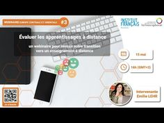 (1) Webinaire : Evaluer les apprentissages à distance - YouTube Distance, France, Fitbit, French Teacher, Web Conferencing, Trainers, Fle, Learning