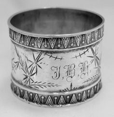 American Coin Silver Napkin Ring 1890