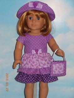 3 PC Layered Easter Bunny Dress Set American Girl Dolls Saige Molly Emily Kit   eBay