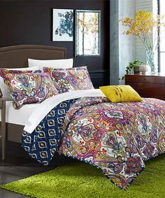 Look at this #zulilyfind! Fuchsia Zedara Reversible Quilt Set by Chic Home Design #zulilyfinds