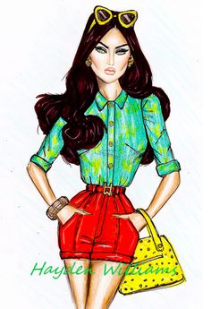 Hayden Williams Fashion Illustrations: 'Tropical Getaway' by Hayden Williams pt. 2