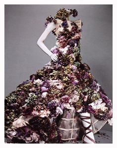 Alexander McQueen, floral dress!