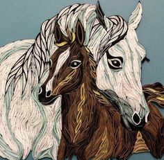 Quilled horses